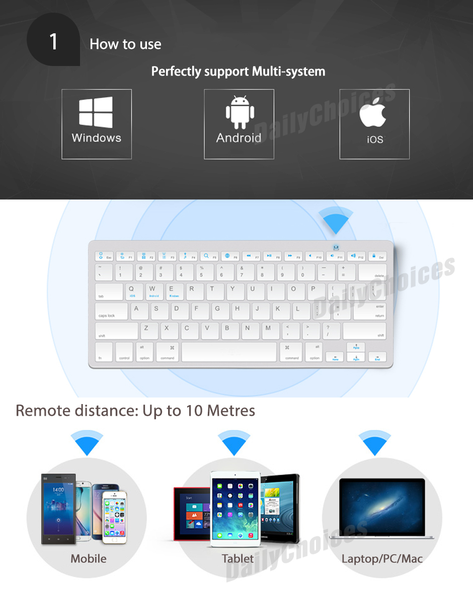 Bluetooth keyboard for mac and windows