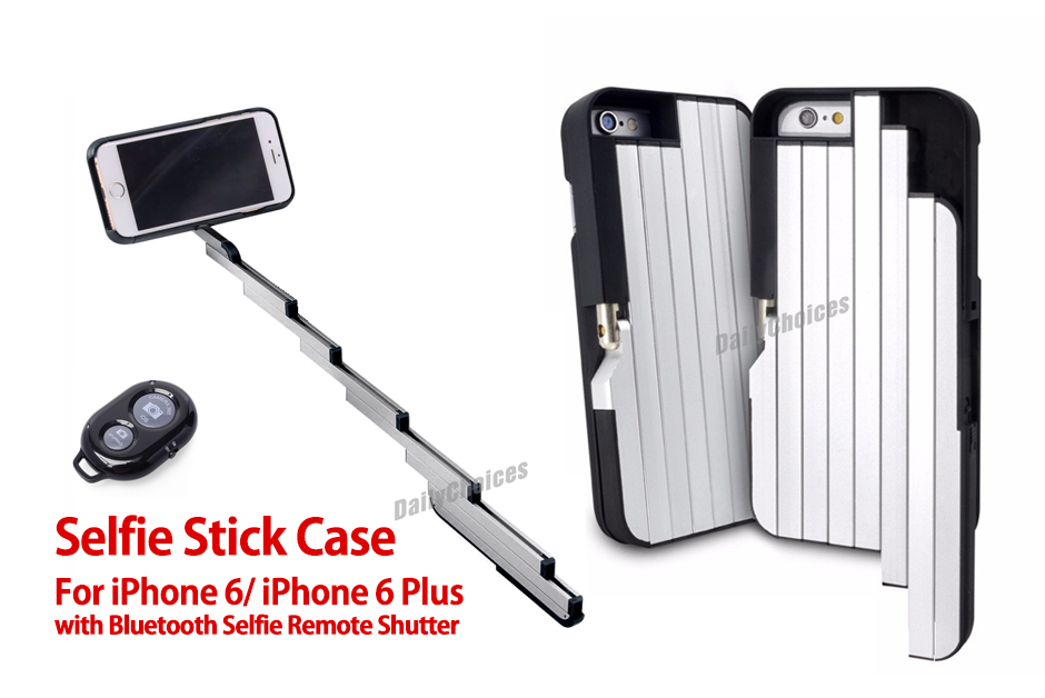 new handheld selfie extendable selfie stick phone case for iphone 6 6s plus. Black Bedroom Furniture Sets. Home Design Ideas